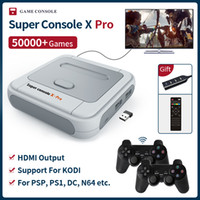 Super PSP / PS1 / N64 / DC Arcade Game Console console X Pro S905X Uscita HDMI WiFi Mini TV Video Game Player per Dual System Built-in 50000 giochi