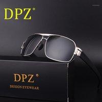 Güneş Gözlüğü DPZ Tasarımcısı Vintage Polaroid Lens Erkekler için Erkek Polarize Gözlük UV400 İç Kaplama Ile Kutusu1