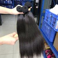 Partihandelsklass 10A Högkvalitativ hårförlängning 100% Virgin Rak Human Hårbuntar för Laday Brasilianskt hår