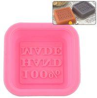 Mold DIY Epoxy resina de silicone Handmade Praça Multi Cores Mini Soap Mold bolo assando biscoitos de chocolate Moldes 0 8mn L2