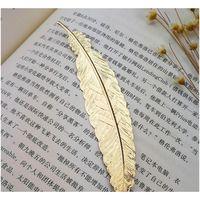 Fashion Metal Feather Bookmark 7 Cores Documento Reservar Mark Mark Golden Silver Rose Gold Bookmark Office Jllsms Sinabag