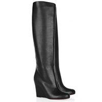 Kış Tall Boots, Yüksek Topuklar takozları Uzun Çizme Kırmızı Alt patik, luxurys Desinger Paris Zepita Süet Boot Gelinlik Parti 35-43Si pompalar
