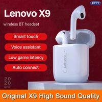 Bluetooth 5.0 Подлинная Lenovo X9 TWS наушники Smart Touch с шумоподавлением Высокое качество звука Stereo Surround Водонепроницаемый
