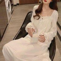 Ev Elbise Beyaz Yaz Gecelik Nuisette Femme Pijama Prenses Gecelik Gecelik Kadınlar Nachtkleding Vrouwen Gecelikler