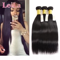 Indian Hair Extensions Tressen 3 Bundles seidige gerade Haar-Webart Bundles 100% Rohboden Menschenhaar Tressen 3Pieces One Set Virgin