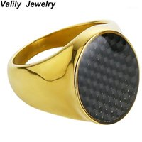 حلقات العنقودية valily مجوهرات رجل حلقة بسيط جولة شفافة المينا الفولاذ المقاوم للصدأ الأزياء فنجر bnad للنساء بالجملة 1