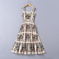 Европейская и американская женская одежда 2020 зима Новый стиль пренебрежительный пояс Condole Heavy Industry из бисера мода флористическое платье для печати