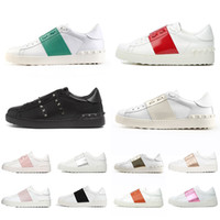 Valentino 2021 Schuhe New Arrival Dress Schuhe Big Size 12 Weiß Schwarz Rot Mode Herren Damen Luxus Leder Designer Schuhe Low Sports Sneakers Eur 35-46
