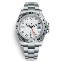 YZ Factory Top 42mm quadrante bianco uomo automatico mechaincal 8209 movimento orologio da uomo 216570 orologi sport zaffiro vetro esploratore orologi da polso