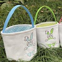 Ostern Eimer DIY Korb Niedlichen Häschenkorb Lächeln Kaninchen Cartoon Leinwand Aufbewahrungstasche Ostern Geschenk Bag Ei Süßigkeiten Totes Lla127