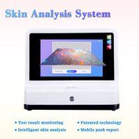 Venta al por mayor Equipo de análisis de piel 3D portátil para problemas de problemas faciales Professional Professional Skin Analyzer Sistema de diagnóstico de la piel para el salón de la prueba de la cara