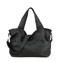 Nesitu de alta calidad Grande Black Black Cuero genuino A4 Bolsos para mujer Totes femeninas Lady Hombro Messenger Bags M07175