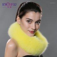 Bandanas inverno mulheres lenço de pele lenços reais lenços aquecidos colarinho xaile 2021 marca moda anel envoltório para mulheres1