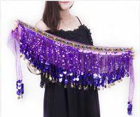 Stage Wear 2021 Belly Dance Costume Accessoires Riem Pailletten Kwasten Tosels Heilige Heup Bollywood Scarf1
