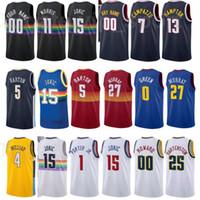 Basketbol Şehir Kazandı Baskı Jamychal Yeşil Jersey 0 PJ Dozier 35 Facundo Campazzo 7 Gary Harris 14 Monte Morris 11 Bol Bol