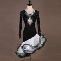 Женщины Латинские танцевальные платья Бальный зал Rumba Cha Cha Samba Латинская бальная танцующая одежда Производительность танца платье Женская одежда1
