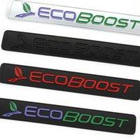 3D EcoBoost 로고 스티커 엠블럼 배지 데칼 포드 포커스 2 3 4 Fiesta Kuga 탈출 Mondeo Edge Ecosport 액세서리 자동차 스타일링