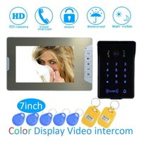 Video Door Phones Smart Home Intelligent 1 To Intercom Kit 7 Inch LCD Monitor Wire Phone Doorbell System Security Camera For Vistor1