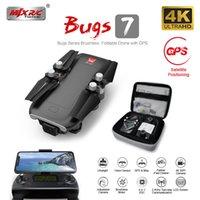 MJX Bugs 7 B7 GPS Drone с 4K 5G WiFi HD камера бесщеточный мотор RC Quadcopter Профессиональный складной вертолет VS SG907 K20 201105