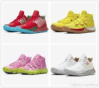 2019 Yeni Kyrie 5 Çizmeler Ayakkabı Ucuz Satış Irving 4 Sneakers Spor Erkek Ayakkabı Kurt Gri Takım Kırmızı Açık Eğitmenler Basketbol Ayakkabıları 4 5