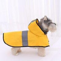 الكلب الملابس تيدي معطف المطر للماء المعطف كيب كبير الحيوانات الأليفة الأصفر المعطف الرمادي شريط الملابس عاكس الملابس سترة متوسطة كبيرة 1