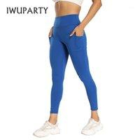 IWUPARTY Сплошные приседания доказательство йоги брюки с карманами, бегущий скрип, легинги по добычаю женские женщины спортивные гоночные фитнес тренировки тренировки