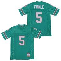 Film Football 5 Ray Finkle Jersey Miami Le Ace Ventura Jim Carrey Teal équipe Couleur Vert Tous Cousu Respirant pur coton de bonne qualité