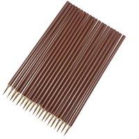 20 pz Brown Hook linea tracciata a penna calligrafia cinese Acquerello Lupo della spazzola di capelli acrilico arte artista Acid studente l'arco della cancelleria