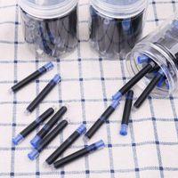 30PCS JINHAO العالمي الأسود نافورة الأزرق القلم الحبر ساك خراطيش 2.6mm مدرسة عبوات قرطاسية المكتب