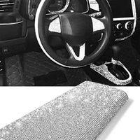 La cinta de cristal auto-adhesivo etiqueta de la hoja del Rhinestone con la goma Palos de diamante para la decoración Coches casos de teléfono Copas 100 piezas T1I2599