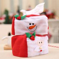 Boîtes de tissus Chambres-serviettes Joyeux Noël Box Cover Santa Claus Home Table Dîner Décor