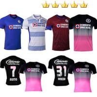 2020 2021 CD Cruz Azul Soccer Jerseys Rosa Kit rose Noir Home 20 21 Alvarado Rodriguez Pineda Escobar Romo Jersey Football Shirts