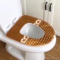 Kapak Yumuşak Koltuk Minderi Closestool Pad Mat Tuvalet Tuvalet WC Isıtıcı Koltuk Örtüsü Rastgele Renk Banyo Aksesuarları KLGTV