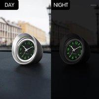 """Ornements de voiture 1.7 """"horloge lumineuse quartz horloge créatif mini pointeur numérique décoration de montre automobile décor intérieure pastable1"""