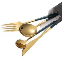 4 шт. Посуда из нержавеющей стали Западная столовая посуда для столовых приборов Colorfull Наборы ножа для ложки вилки Set CL200919