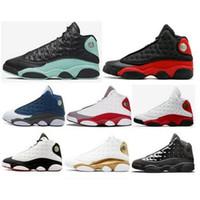 ولدت رخيصة 13 الجزيرة الخضراء شيكاغو فلينت الرجال النساء أحذية كرة السلة 13S ولديك لعبة ميلو DMP مباراة فاصلة الرجعية فرط الملكي حذاء رياضة