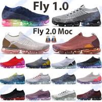 Yeni 1.0 Koşu Ayakkabıları Erkek Fly 2.0 MOC Yelken Buğday Thunder Mavi Siyah Yeşim Saf Platin Üniversitesi Kırmızı Bred Kadın Chaussures