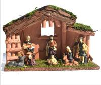 2021 vente chaude Nativity Mobilier de crèche figures articles religieux résine naissance de Jésus artisanat décorations de Noël Arts et artisanat