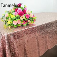 120x180cm Lentejuagura de oro de lentejuelas de lentejuelas de lentejuelas Cubierta de tela de mesa de rectángulo para banquetes para banquete de boda decoración del hogar