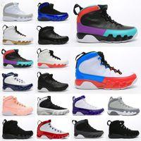 2021 Nouveaux hommes Chaussures Jumpman 9 IX Unc Unc Unc Blanc Blue-Midnight Navy Basketball Chaussures Mens Sneakers Chaussures Taille 7-13