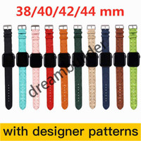 مصمم watchbands ل أبل ووتش باند 42 ملليمتر 38 ملليمتر 40 ملليمتر 44 ملليمتر iwatch 2 3 4 5 العصابات جلدية حزام سوار الأزياء المشارب شحن مجاني