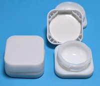 embalagem frasco pequeno cubo de vidro branco branco tampão tampa childresistant creme cosmético cera recipiente de concentrado 5g 7g impressão cuustom