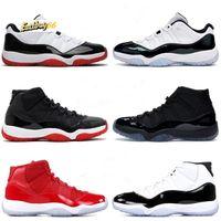 Melhor basquete Sapatos 11s Bred Concord Gamma azul Space Jam Gym Red Infravermelho Varsity Red designer de Nova Sapatilhas 2020 11 sapatos para homens mulheres