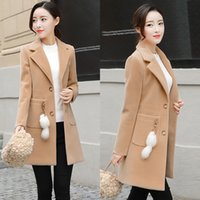 Blends Woolens Overcoat Women Plus size Coat Female New Autumn Winter Wear Ladies And Jackets Women's Wool Coats Long Tops