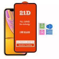 2020 21D Full Cover Tempered Gla Screen Protector für iPhone12 SE 11 PRO MAX XR XS 6 7 8 LG K31 K51 K61 Stylo 6 K50S K41s