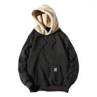 Zaful اللون حظر إلكتروني التصحيح التفاصيل الحقيبة الجيب الصوف هوديي المرأة عارضة الهيب هوديس بلوزات بارد البلوزات