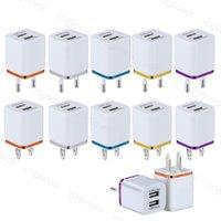 Trasformatori di illuminazione USB 1A Doppia uscita 100-240 V Adattatore di alimentazione USA Plug 2 Porta Metallo Dual per iPhone Samsung LG Tablet IPAD DHL