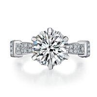 18K wit vergulde gorgeous sieraden zilver 4ct ring nscd gesimuleerde diamant engagement lord ring voor vrouwen snelle verzending uit de VS.