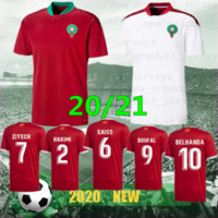 Jerseys de football européen Maroc 19/20 Maillot de Foot Ziyech Boutaib Camiseta de futbol Boussoufa el Ahmadi Chemise de football