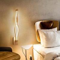 벽 램프 LED 램프 북유럽 스타일 침실 조명 AC 90-264V 거실 조명 실내 따뜻한 화이트 / 차가운 백색 라이트 1